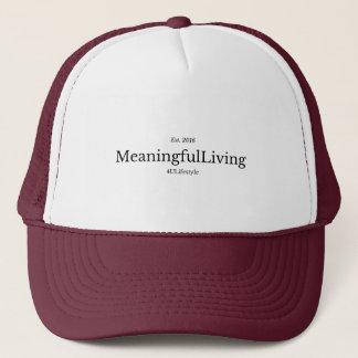 MeaningfulLiving Brand red phrase logo Truckerkappe