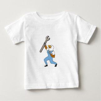 Mechaniker-kahler Adler-Schlüssel-stehender Baby T-shirt