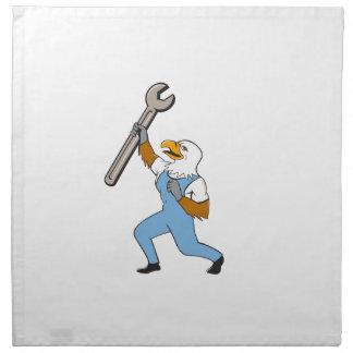 Mechaniker-kahler Adler-Schlüssel-stehender Stoffserviette