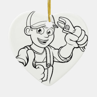 Mechaniker-oder Klempner-Heimwerker mit Keramik Ornament