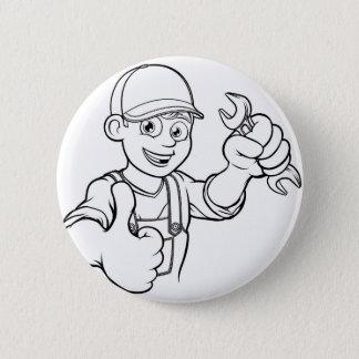 Mechaniker-oder Klempner-Heimwerker mit Runder Button 5,1 Cm