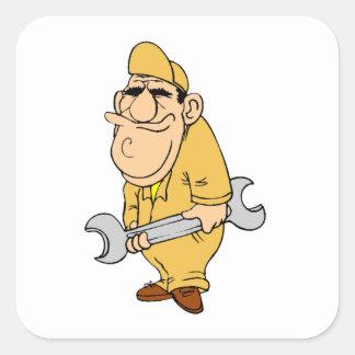 Mechaniker Quadrat-Aufkleber