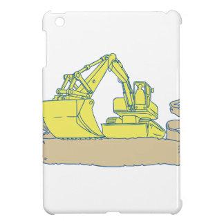 Mechanischer Gräber-Bagger-Band-Rolle-Zeichnen iPad Mini Hülle