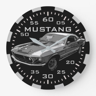 Mechanischer Power des Mustangs Große Wanduhr