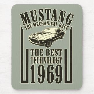 Mechanischer Power des Mustangs Mauspad