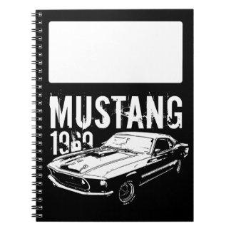 Mechanischer Power des Mustangs Spiral Notizblock