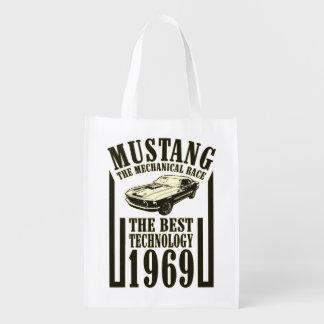 Mechanischer Power des Mustangs Wiederverwendbare Einkaufstasche