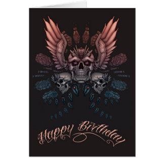 Mechanischer Schädel-Geburtstag Karte