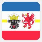 Mecklenburg-Vorpommern Flagge Quadratischer Aufkleber