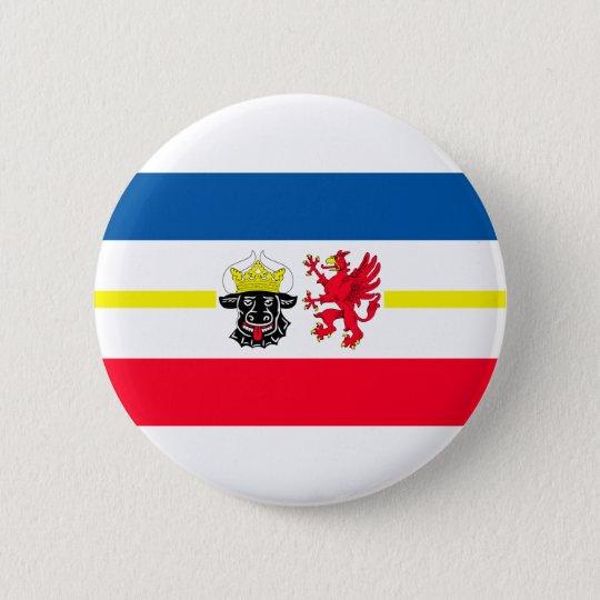 Mecklenburg-Vorpommern Flagge Runder Button 5,1 Cm