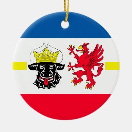 Mecklenburg-Vorpommern Flagge Rundes Keramik Ornament