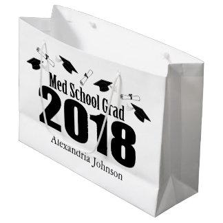 MED-Schulabsolvent-Abschluss-Geschenk-Tasche 2018 Große Geschenktüte