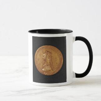 Medaille, die Anne von Bretagne darstellt Tasse