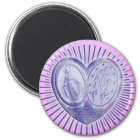 medaille miraculeuse / Wunderbare Medaille | pink Runder Magnet 5,7 Cm