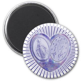 medaille miraculeuse / Wunderbare Medaille Runder Magnet 5,7 Cm