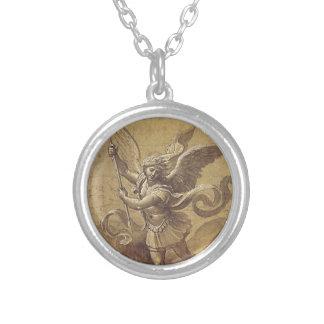 Medaille St Michel Archange Versilberte Kette