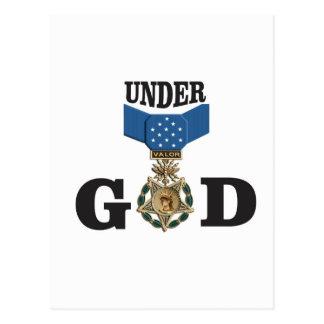 Medaille unter Gott Postkarte