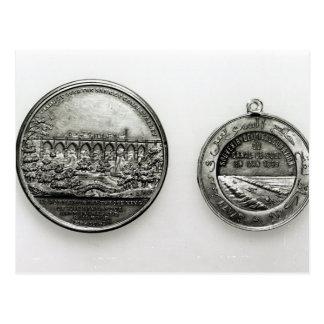 Medaille, welche die Öffnung des Suez gedenkt Postkarte
