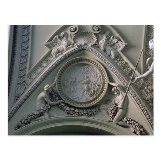 Medaillon, das Kaiser Constantine darstellt Postkarte