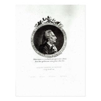 Medaillon-Porträt von Giacomo Casanova, Alter 63 Postkarte