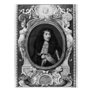 Medaillon-Porträt von Louis XIV Postkarte