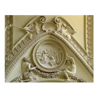 Medaillon, welches die Taufe von Constantine Postkarte