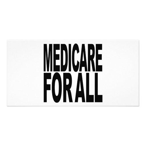 Medicare für alle foto karten vorlage