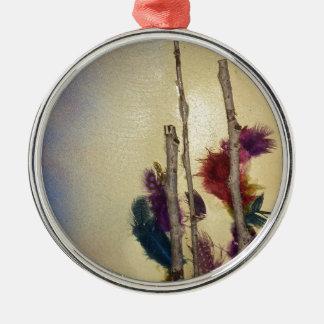 """Medien""""versehen Sie Baum"""" gemischte Medien für Silbernes Ornament"""