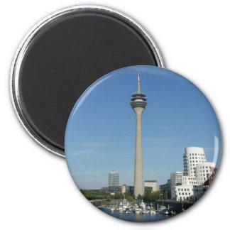 Medienhafen Düsseldorf Runder Magnet 5,7 Cm