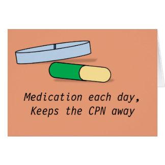 Medikation jede Tageskarte (CPN) Karte