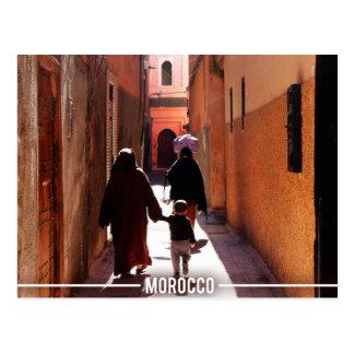 Medina-Straßen, Marrakesch Marokko Postkarte