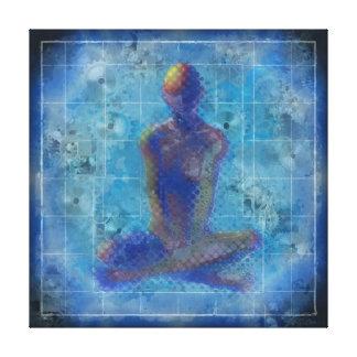 Meditation durch T.Orr Leinwanddruck