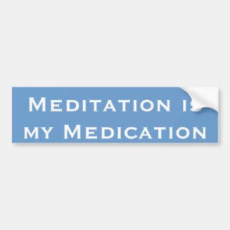 Meditation ist meine Medikation Autoaufkleber