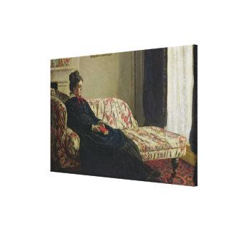 Meditation oder Madame Monet Claude Monets | Leinwanddruck