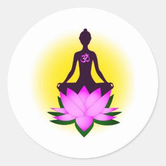 Meditation Runder Aufkleber
