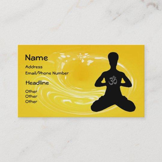 Meditation Yoga Visitenkarten Visitenkarte Zazzle De