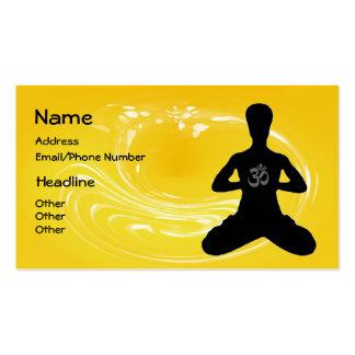 Meditation - Yoga-Visitenkarten Visitenkarten
