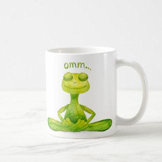 Meditations Frosch Kaffeetasse