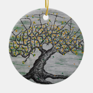 Meditations-Liebe-Baum Keramik Ornament