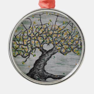 Meditations-Liebe-Baum Silbernes Ornament