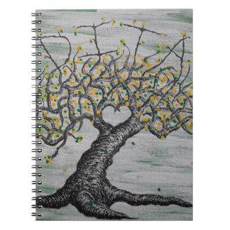 Meditations-Liebe-Baum Spiral Notizblock
