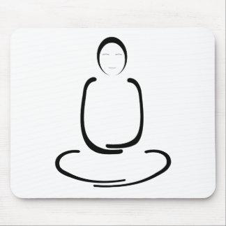 Meditations-Mann-Schwarzes Mousepads