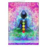 Meditations-Yoga-Anmerkungs-Karte