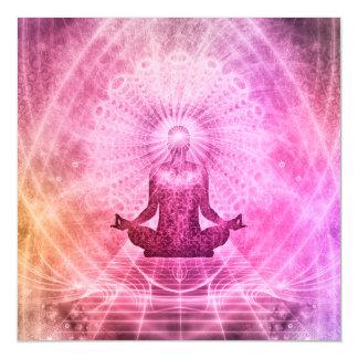 Meditations-Yoga-Art Magnetische Karte