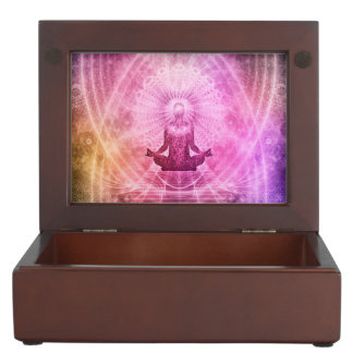 Meditations-Yoga-Glaube Erinnerungsdose