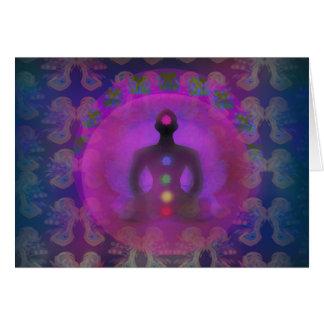 Meditations-Yoga-Karte Karte