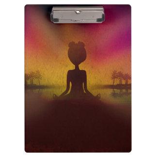 Meditations-Yoga-Klemmbrett