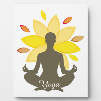 Meditations-Yoga-Lotos-Pose Fotoplatte