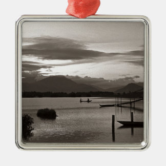 Meditative Abendstimmung - Asien Silbernes Ornament
