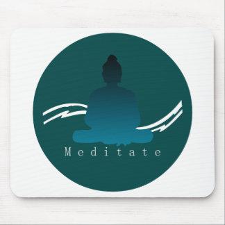 """""""Meditieren"""" schöner Buddha Mousepads"""